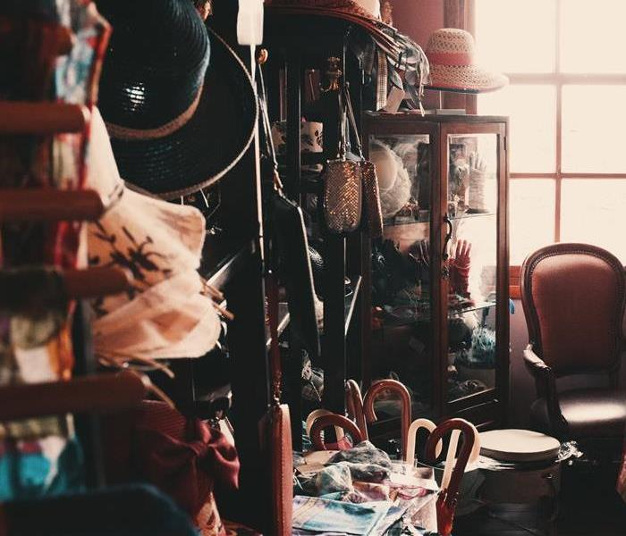 inside of an extremely cluttered home
