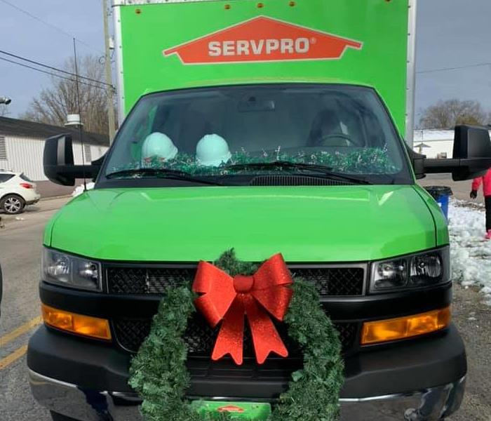 Decorated SERVPRO truck